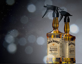 3D model barber Jack Daniels water Sprayer