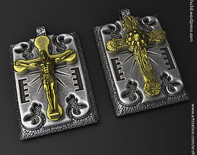 Jesus cross vol2 Pendant 3D printable model