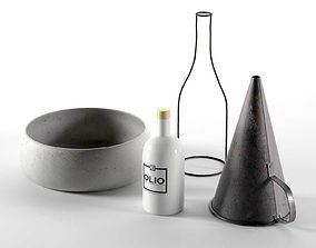 Kitchen Composition with Oil cone 3D model