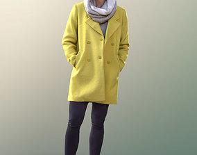 10557 Bao - Asian Woman warm coat winter autumn 3D model