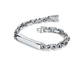 Tiffany and Co Tumbled Wide Chain Bracelet 3D print model