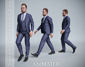 businessman walk 3D