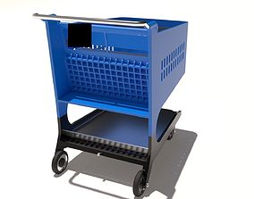 Cart for supermarket shopping 3D model