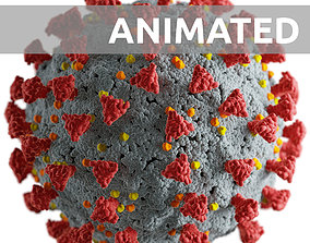 illustration 3D Corona virus -animated-