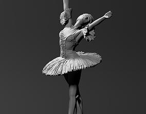 Female ballet dancer 3D print model