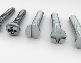 Screws and Bolts 3D asset