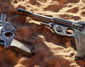 Mandalorian Blaster Pistol - 3D Asset Kit low-poly 1