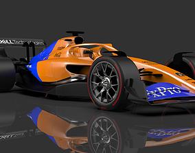 3D F1 2021 car