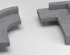 3D model Vladimir Kagan Sectional Sofa
