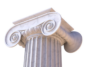 Ionic column LOW POLY 3D model