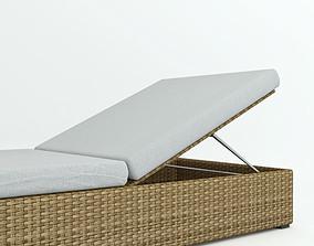 3D model Rattan lounger