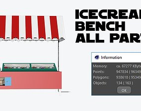 Ice Cream Countertops - Bench - 3D VR / AR ready