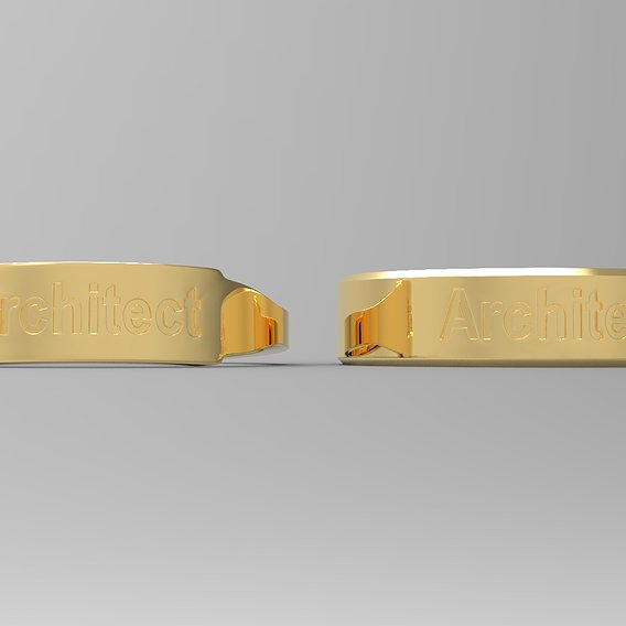 Architect Couple Ring Gold