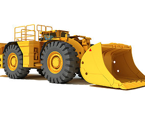 Underground Mining Hard Rock Loader 3D