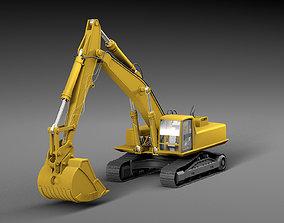 Digger skinned heavy 3D model