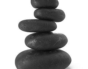 Zen stones 01 3D model