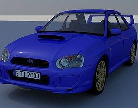 3D model Subaru Impreza STI 2003