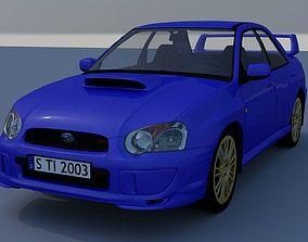 3D Subaru Impreza STI 2003