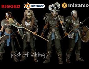 pack of viking 3D model