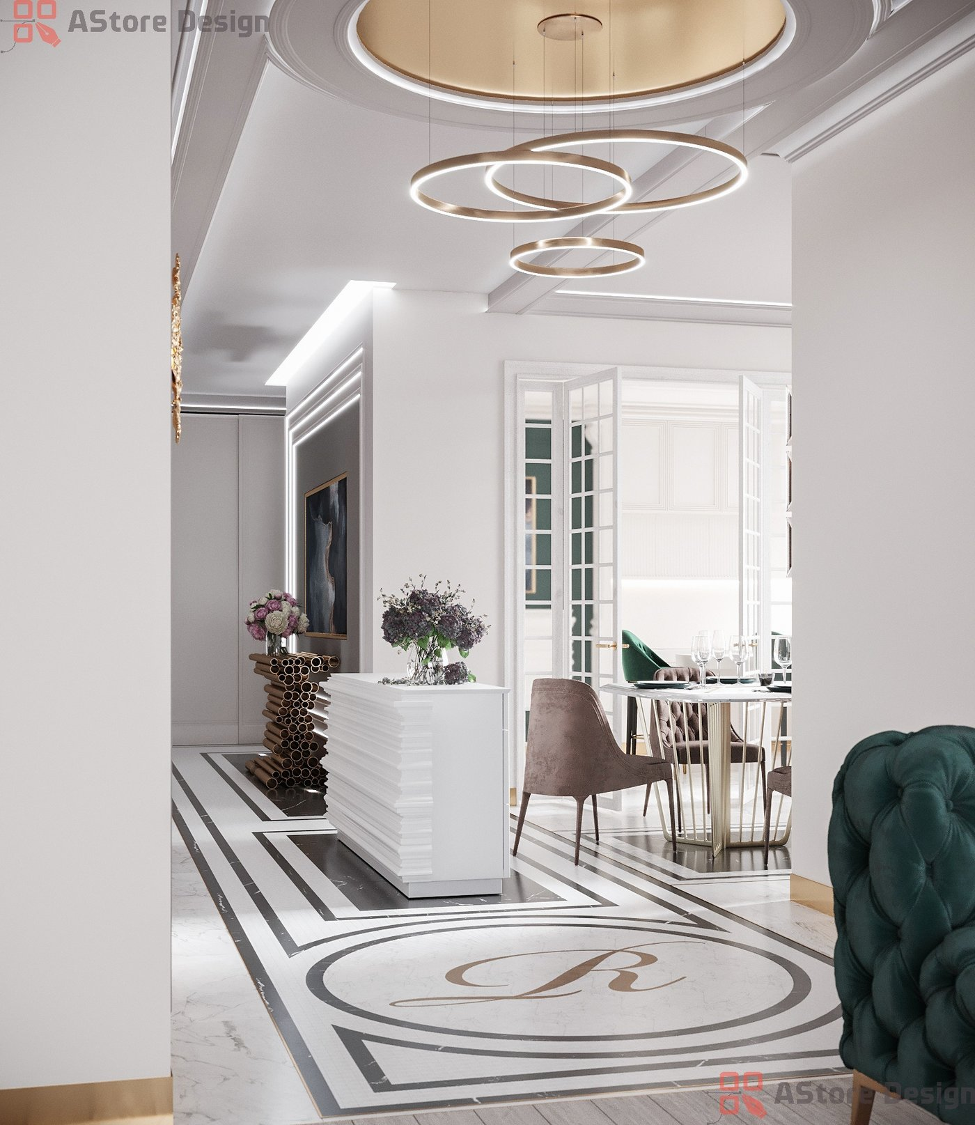 Visualization of the apartment 124 meters