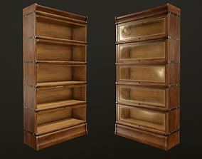 Antique Bookcase - PBR Game Ready 3D asset