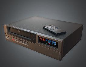 80s - VCR VHS Player 02 3D asset