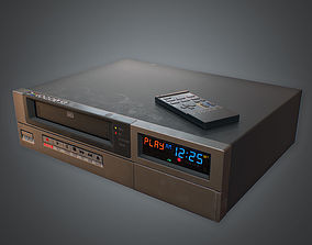 3D model VCR VHS Player 02 80s