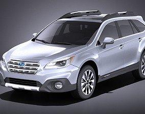 Subaru Outback 2017 VRAY 3D
