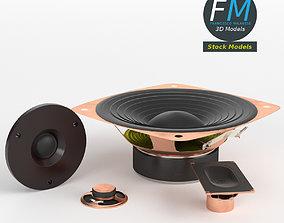 3D model PBR Speakers