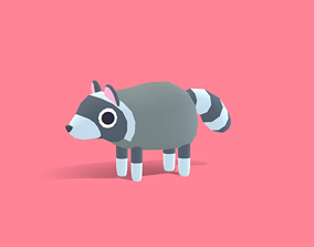 Roy the Raccoon - Quirky Series 3D model