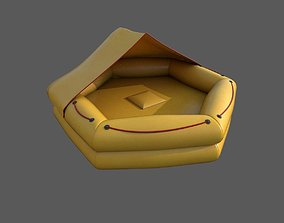 3D model Inflatable rescue emergency raft