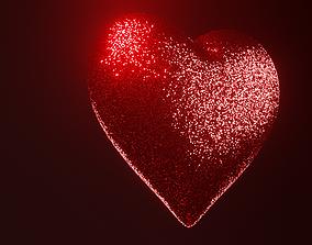 3D model Glitter heart