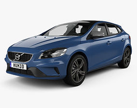 3D Volvo V40 T5 R-Design 2016