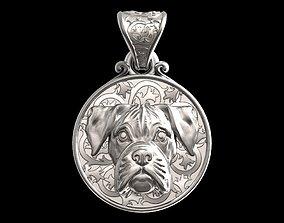 Dog Boxer pendant 3D print model