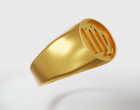 3D printable model Virgo Zodiac Sign Ring