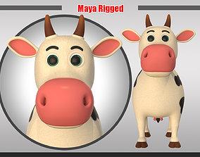3D model Cartoon Cow V2
