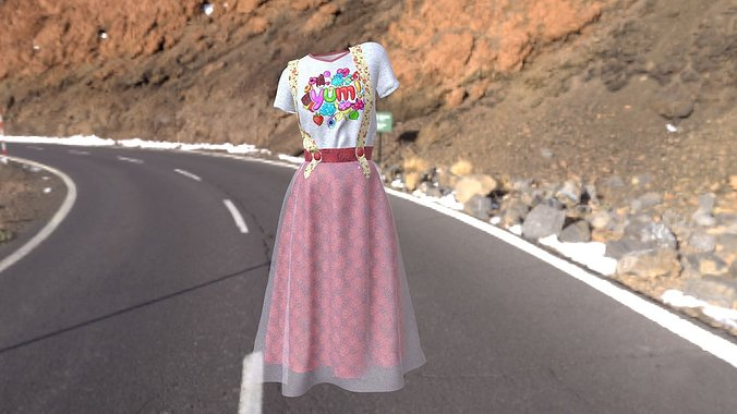 t-shirt-and-skirt-3d-model-low-poly-obj-