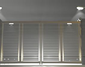 Automatic gate panes 3D model