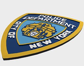 NYPD Police Department logo 3D asset