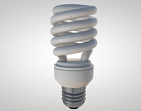 Fluorescent Light Bulb 3D