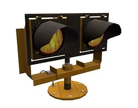 3D model Runway guard light - WigWag
