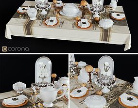 Table setting 3D PBR
