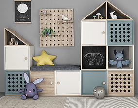 3D model Furniture for childrens room with decor 11