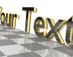 3D model Custom Text 2 - Glossy