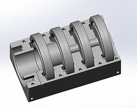 fan 3D-Printable Axial Ventilator Blower Assembly