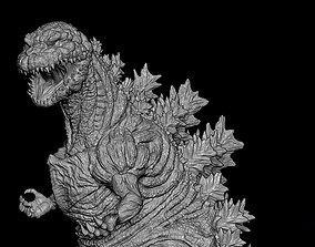 Godzilla statue 3D print model