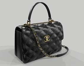 3D model Chanel Small Flap Bag With Top Handle Black