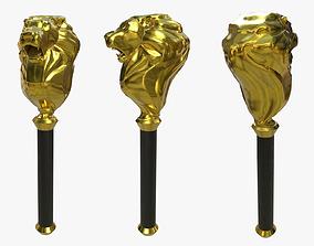 Golden Staff 3D model
