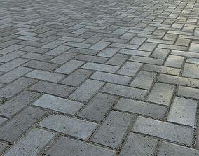 Paving bricks 01 3D model