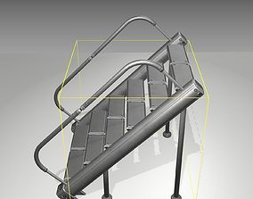 3D model Futuristic Stairs - 20 - Basic Textures